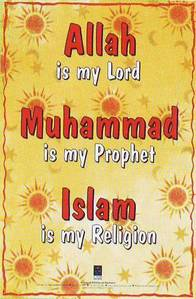 Plakat: Allah is my Lord