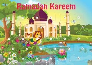 Ramadan kalender med bog