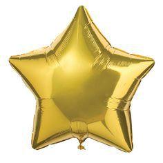 Stjerne folie-ballon i guldfarve