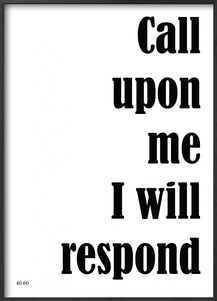 Plakat: Call upon Me (50x70cm)