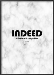 Plakat: Indeed, Allah is with the patient (50x70cm)