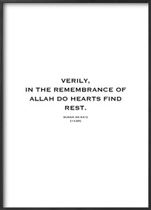 Plakat: Verily, in the remembrance (50x70cm)