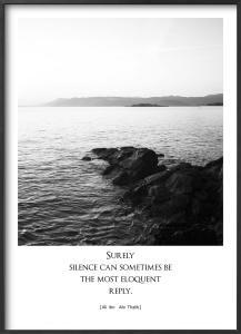 Plakat: Silence (50x70cm)