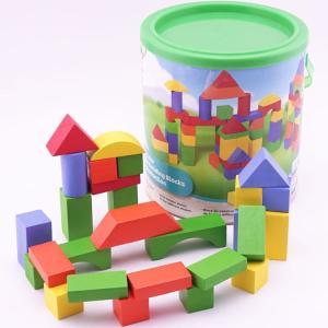 Multifarvede byggeklodser - 80 stk - Alder 1-5