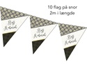 Hajj Mubarak flags - 10 flags 2m length
