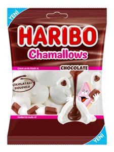 Haribo - Chamallows Chocolate 62g - chokolade skumfiduser