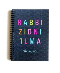 Notesbog - Rabbi Zidni Ilma i sort