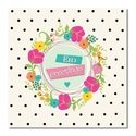 Postcard - Eid Greetings - Floral Heart Wreath and dots
