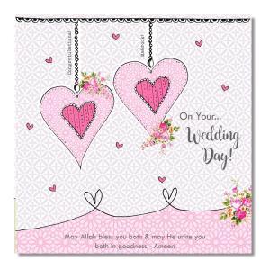 Postkort - On Your Wedding Day - Hjerter