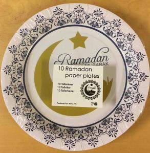 Ramadan Mubarak tallerkener - 10 stk