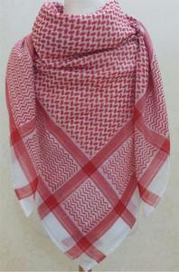 Palæstina tørklæde i rødt og hvidt - 130x130cm