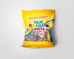Heavenly Delights - Sour Rainbow Belts 80g
