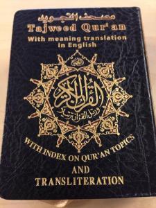 Tajweed Quran med engelsk oversættelse og transkription (lomme)
