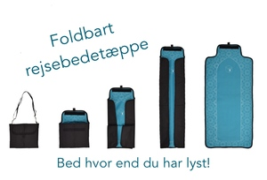 Foldbart rejsebedetæppe som taske