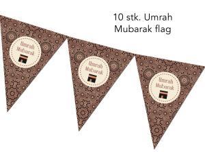 Umrah Mubarak flag - 10 stk